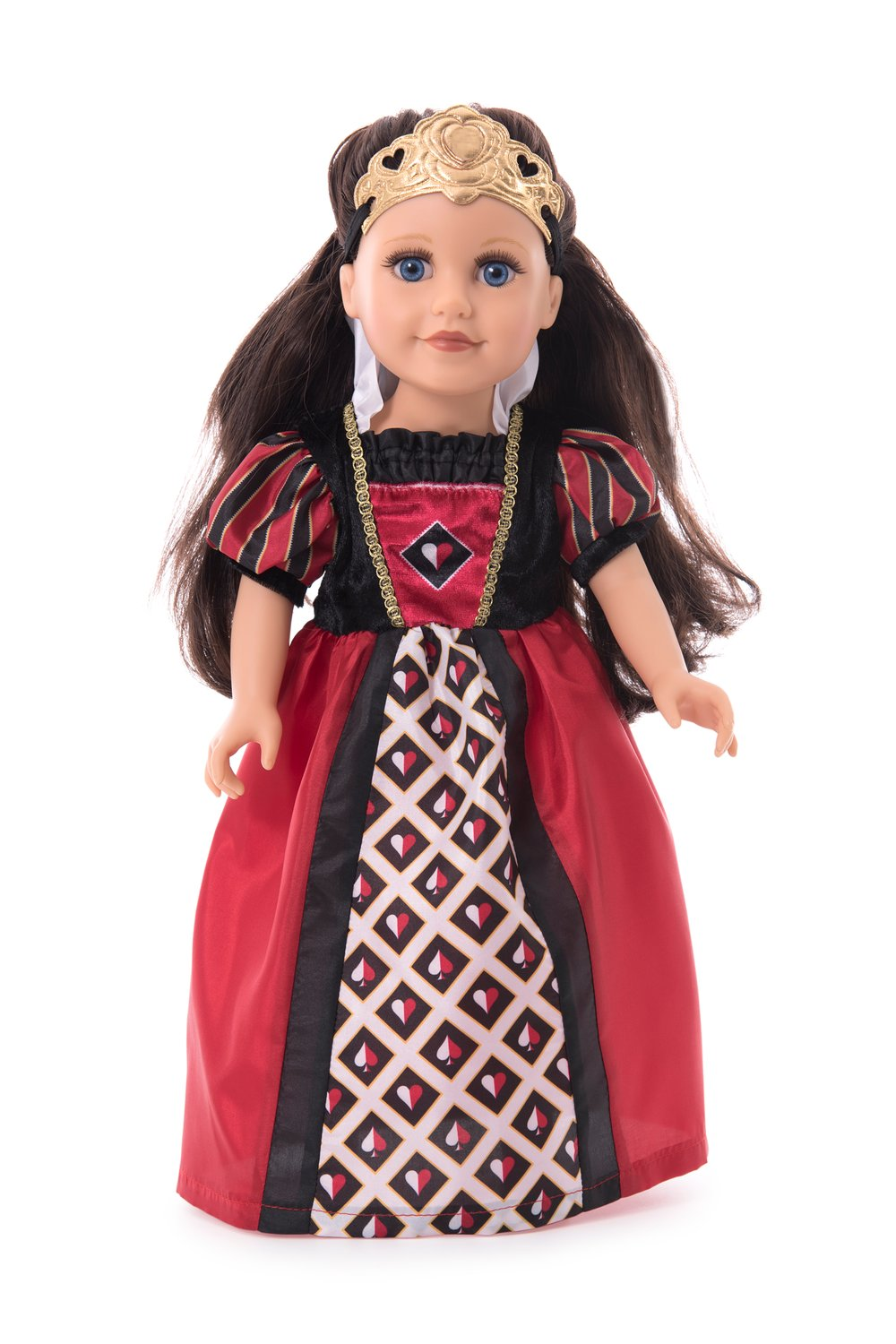 IN-STOCK Little Adventures DOLL Dress Queen of Hearts with Soft Crown