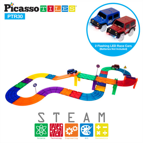 Picasso Tiles 30 piece Race Track PTR30