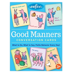 eeBoo Conversation Cards: Good Manners