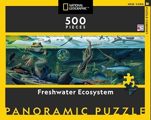National Geographic Freshwater Ecosystem 500 Piece Puzzle