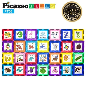 Picasso Tiles 56 Piece Set with Art Tiles PT56