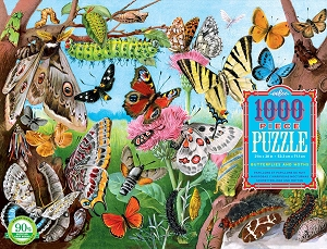 eeBoo Butterflies and Moths 1000 piece puzzle