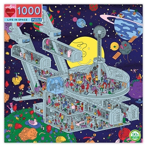 eeBoo Life in Space 1000 piece puzzle