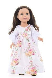 Little Adventures DOLL Dress Pre-order White Floral Beauty $16.00