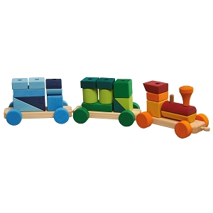 Gluckskafer Colorful Wooden Train