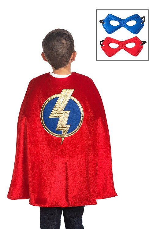 PRE-ORDER Little Adventures Red Hero Cape and Mask Set $20.00